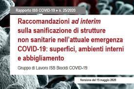 Raccomandazioni ad interim sulla sanificazione di strutture non sanitarie nellattuale emergenza COVID 19 superfici ambienti interni e abbigliamento